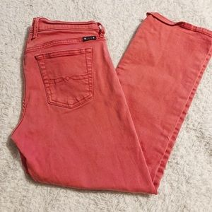 Lucky brand sweet n crop pants coral